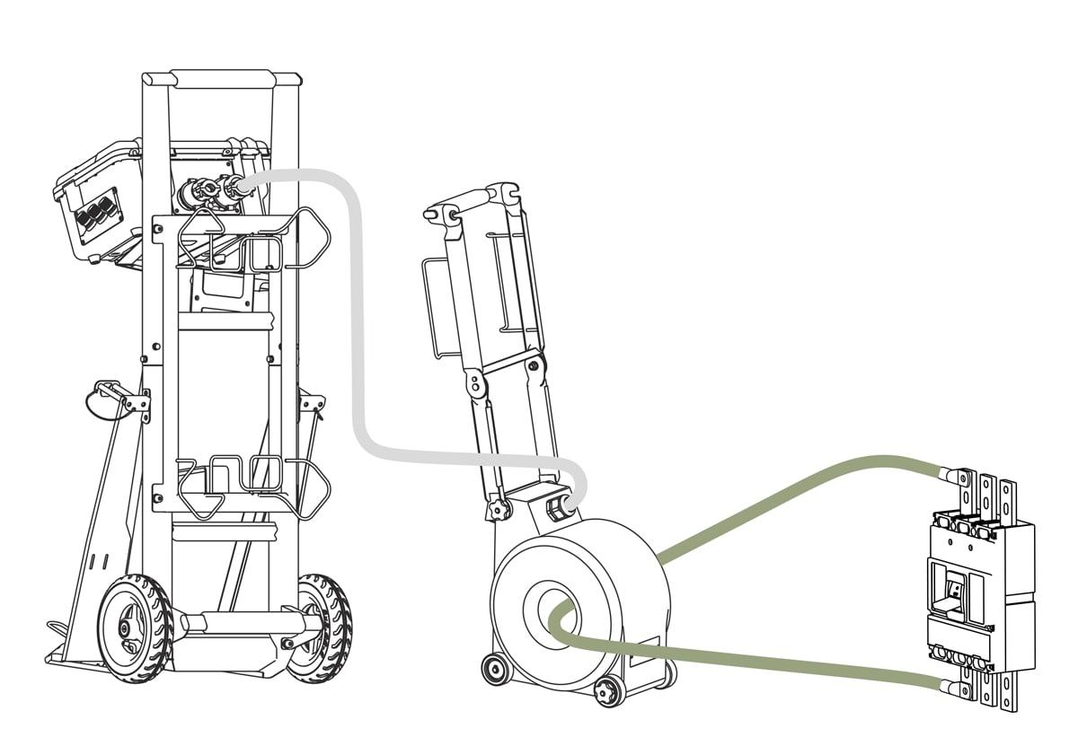 Схема подключения устройства для прогрузки автоматов УПА-6, 10, 16, 20